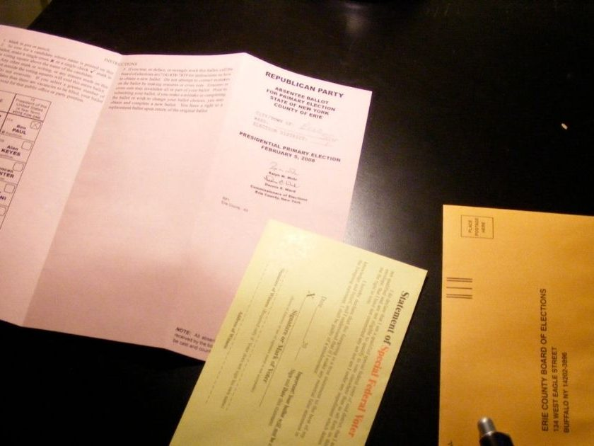 Absentee Ballot to vote by mail