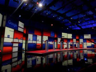 Empty Debate Stage