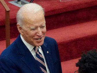 Democratic presidential nominee Joe Biden campaigning
