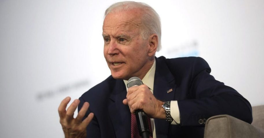 Former Vice President Joe Biden speaks with attendees at the Moving America Forward Forum hosted by United for Infrastructure at the Student Union at the University of Nevada, Las Vegas in Las Vegas, Nevada.