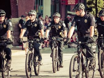 Louisville Metro Police on Bicycles