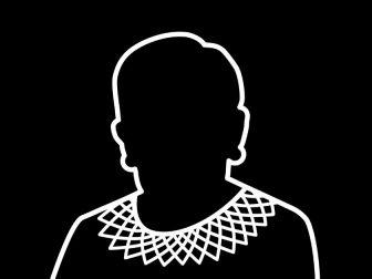 Black & White Drawing of Ruth Bader Ginsburg