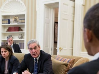 Robert Mueller in White House meeting with Obama