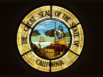 The Great Seal of the State of California Stained Glass