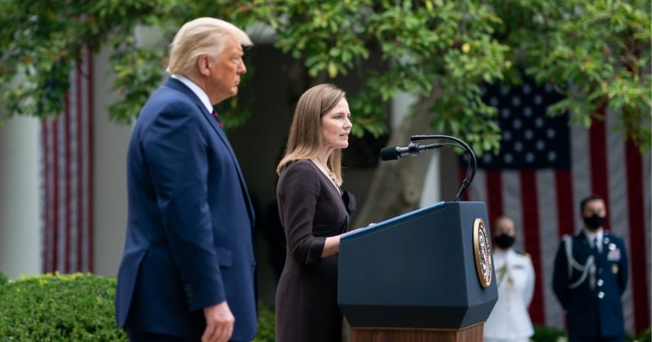 Judge Amy Coney Barrett delivers remarks after President Donald J. Trump announced her as his nominee for Associate Justice of the Supreme Court of the United States Saturday, Sept. 26, 2020, in the Rose Garden of the White House. (Official White House Photo by Andrea Hanks)