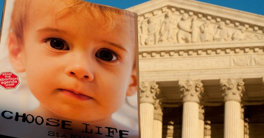 Choose Life sign in front of Supreme Court