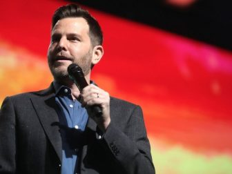 Dave Rubin speaking with attendees at the 2019 Student Action Summit hosted by Turning Point USA at the Palm Beach County Convention Center in West Palm Beach, Florida.