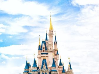 Disney castle in Magic Kingdom