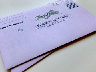 Election mail return envelopes