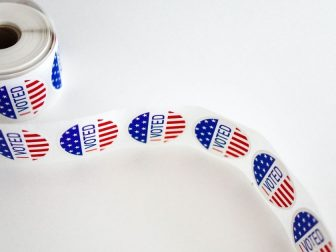 Roll of 'I Voted' stickers