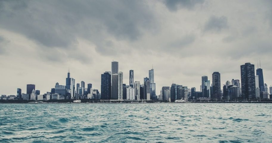 High-rise buildings in Chicago, Illinois.