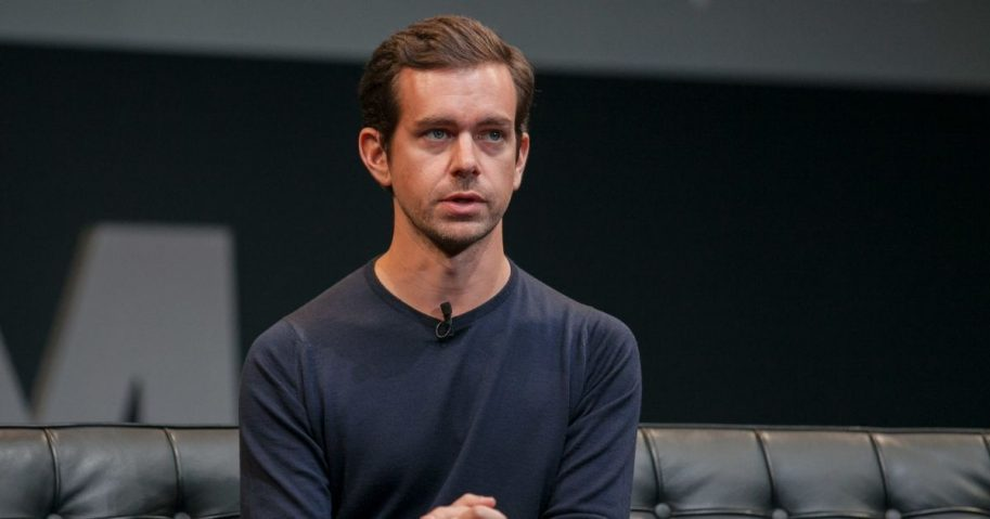 Jack Dorsey sitting on a couch