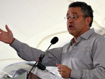 Jeffrey Toobin speaking at the National Book Festival.