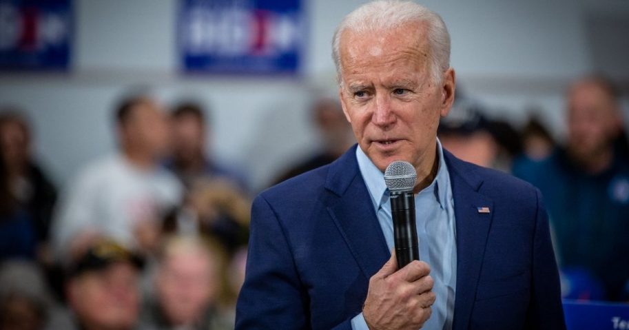 Vice President Joe Biden holds an event with voters in the gymnasium at McKinley Elementary School in Des Moines, where he addressed a number of issues including the recent escalation with Iran. Iowa member of Congress Abby Finkenauer was also on hand to announce her endorsement of Biden.