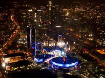 LA Staples Center aerial view