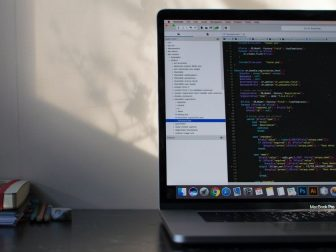 MacBook Pro showing programming
