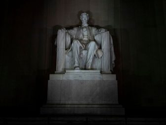 A statue of President Abraham Lincoln is seen during the Salute to America event Thursday, July 4, 2019, at the Lincoln Memorial in Washington, D.C. (Official White House Photo by Tia Dufour)
