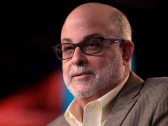 Mark Levin speaking with attendees at the 2018 Student Action Summit hosted by Turning Point USA at the Palm Beach County Convention Center in West Palm Beach, Florida.