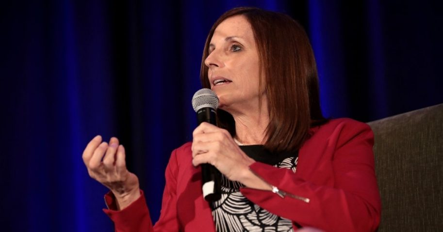 U.S. Senator Martha McSally speaking with attendees at the 2019 Update from Capitol Hill hosted by the Arizona Chamber of Commerce & Industry at the Arizona Biltmore Resort in Phoenix, Arizona.