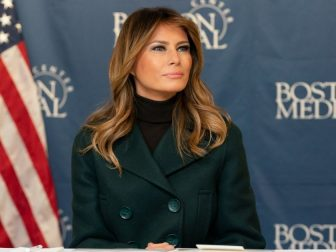 First Lady Melania Trump, joined by Secretary of Health and Human Services Alex Azar, participates in a roundtable on Boston Medical Center's Neonatal Abstinence Syndrome (NAS) Program Wednesday, Nov. 6, 2019, at Boston Medical Center in Boston. (Official White House Photo by Andrea Hanks)