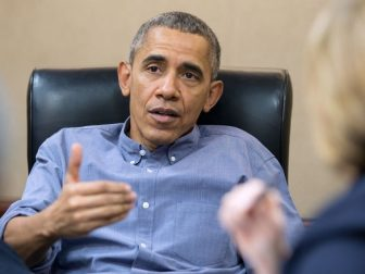 President Barack Obama convenes a meeting in the Situation Room to discuss the latest on the San Bernardino, Calif., shootings, Saturday, Dec. 5, 2015.