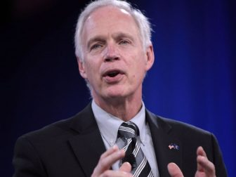 U.S. Senator Ron Johnson of Wisconsin speaking at the 2016 Conservative Political Action Conference (CPAC) in National Harbor, Maryland.