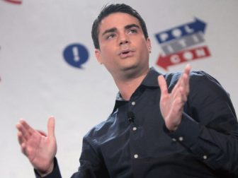 Ben Shapiro speaking at the 2016 Politicon at the Pasadena Convention Center in Pasadena, California.