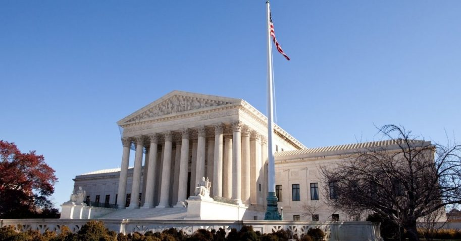 View of the Supreme Court building