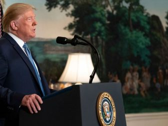 President Donald J. Trump addresses his remarks Monday, August 5, 2019, in the Diplomatic Reception Room of the White House on the mass shootings over the weekend in El Paso, Texas and Dayton, Ohio. (Official White House Photo by Shealah Craighead)