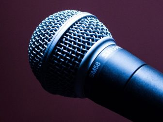 Black Dynamic Microphone
