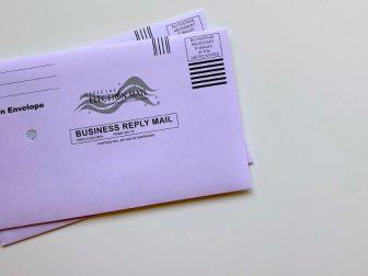 Official election return envelope