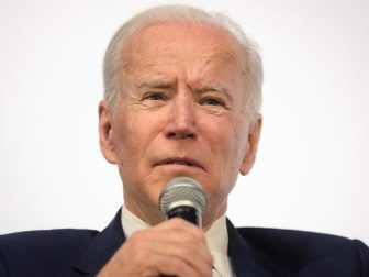 Former Vice President of the United States Joe Biden speaking with attendees at the Moving America Forward Forum hosted by United for Infrastructure at the Student Union at the University of Nevada, Las Vegas in Las Vegas, Nevada.