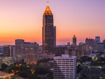 Midtown Atlanta skyline at just after sunset