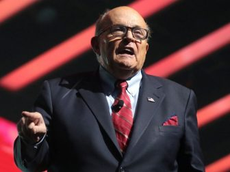 Former Mayor Rudy Giuliani speaking with attendees at the 2019 Student Action Summit hosted by Turning Point USA at the Palm Beach County Convention Center in West Palm Beach, Florida.