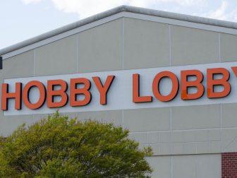 Hobby Lobby storefront in Fredericksburg, Virginia.