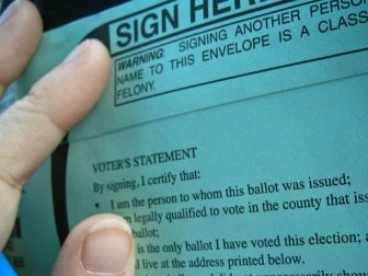Signature Envelope for Mail-in Ballot