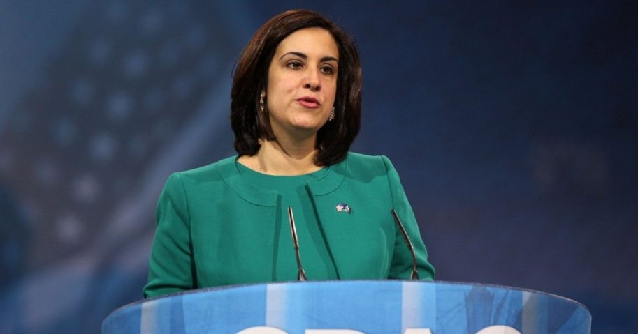 Assemblywoman Nicole Malliotakis of New York speaking at the 2013 Conservative Political Action Conference (CPAC) in National Harbor, Maryland.