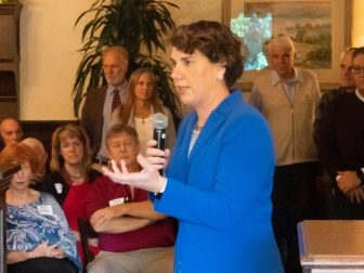 Amy McGrath speaking at an event