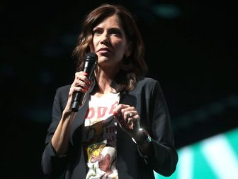 Governor Kristi Noem speaking with attendees at the 2019 Student Action Summit hosted by Turning Point USA at the Palm Beach County Convention Center in West Palm Beach, Florida.