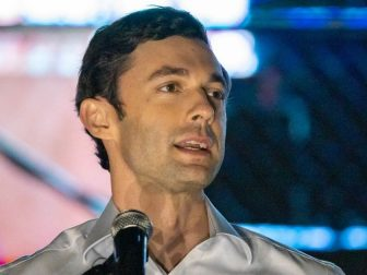 Jon Ossoff speaking at an event