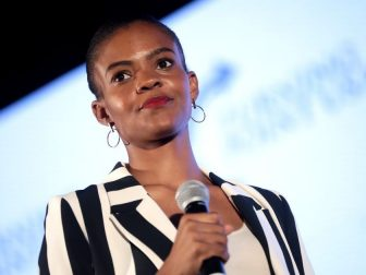 Candace Owens speaking with attendees at the 2019 Teen Student Action Summit hosted by Turning Point USA at the Marriott Marquis in Washington, D.C.