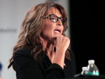 Former Governor Sarah Palin speaking at the 2016 Politicon at the Pasadena Convention Center in Pasadena, California.
