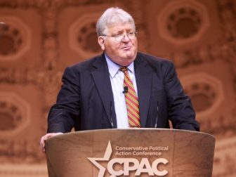 Pat Nolan speaking at the 2014 Conservative Political Action Conference (CPAC) in National Harbor, Maryland.