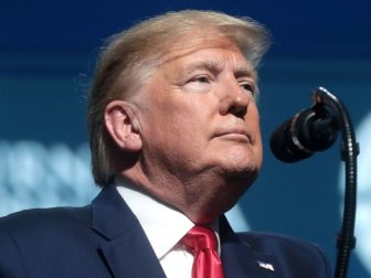 President of the United States Donald Trump speaking with attendees at the 2019 Student Action Summit hosted by Turning Point USA at the Palm Beach County Convention Center in West Palm Beach, Florida.
