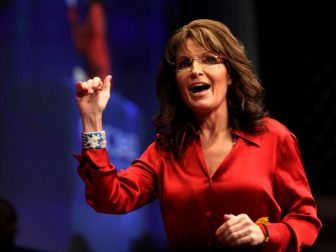 Former Governor Sarah Palin speaking at the 2012 CPAC in Washington, D.C.