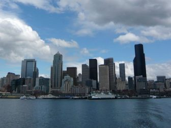 On board the water taxi to West Seattle.