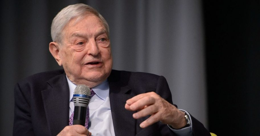 George Soros speaking at an event