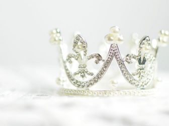 Close-up photograph of a tiara
