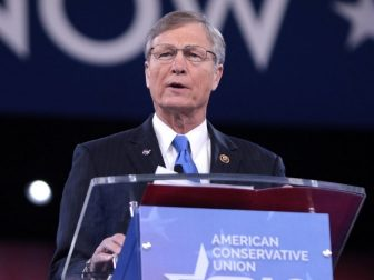 U.S. Congressman Brian Babin of Texas speaking at the 2016 Conservative Political Action Conference (CPAC) in National Harbor, Maryland.