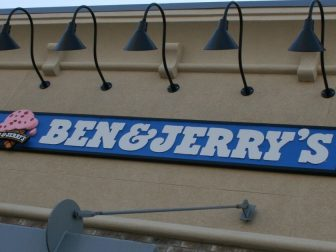 Ben & Jerry's sign on a store front
